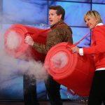 Steve Shooting Smoke Rings on The Ellen Show
