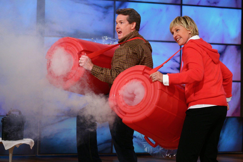 Steve Shooting Smoke Rings on The Ellen Show