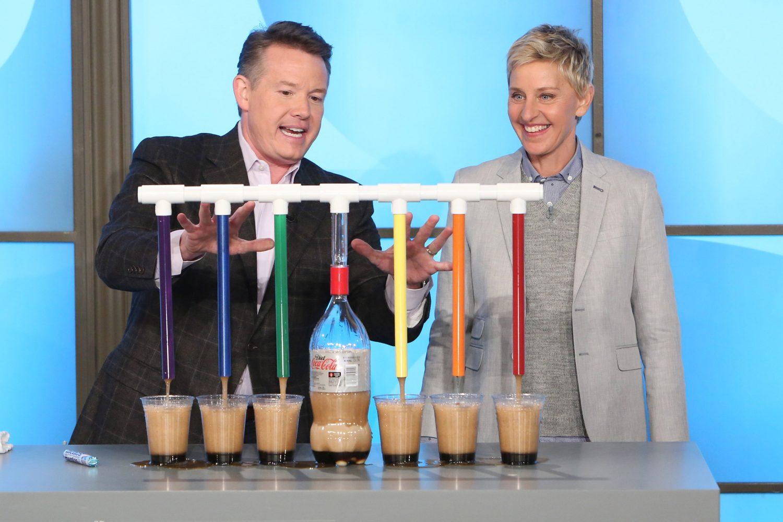 Steve Doing Soda Dispenser 3000 on The Ellen Show