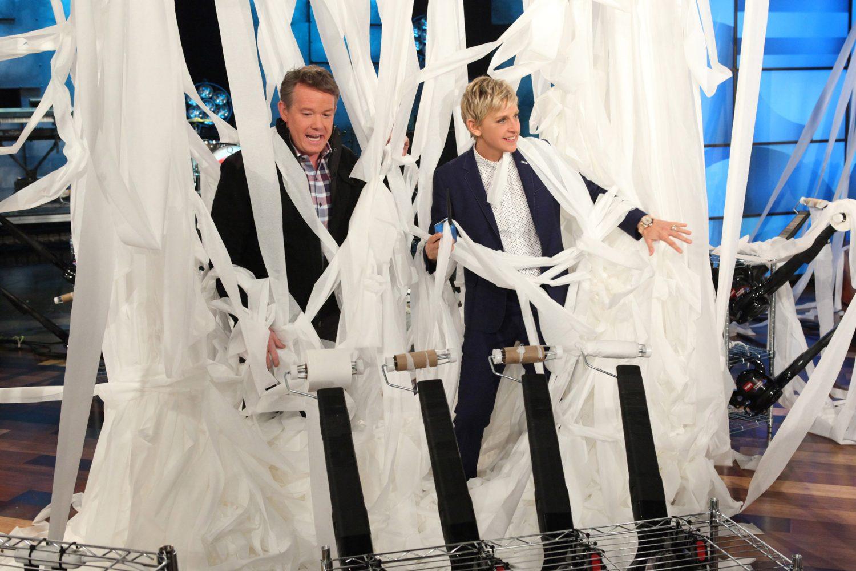 Steve Launching Toilet Paper on The Ellen Show
