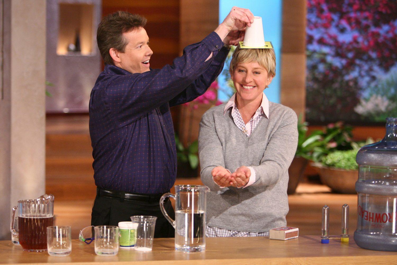 Steve Performing Water Gel on The Ellen Show