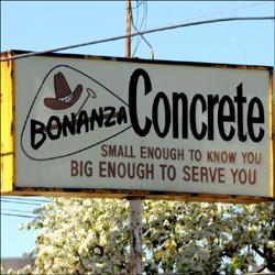 Bonanza Concrete - where the mixing all began.