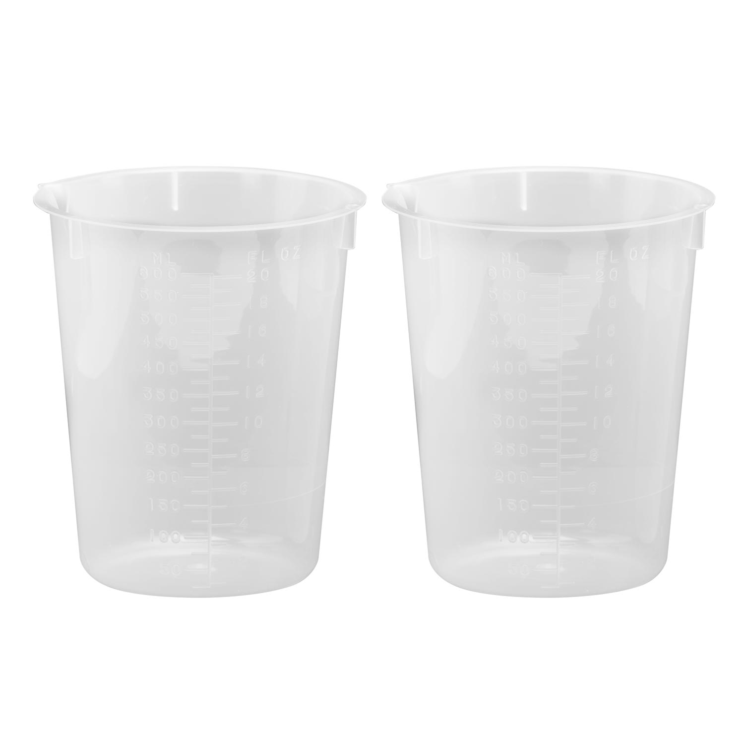 600 mL Plastic Beaker (2 Pack)