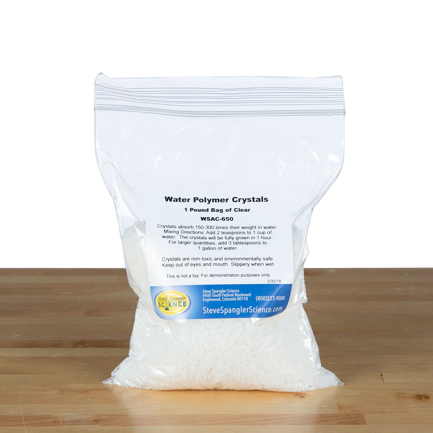 Water Jelly Crystals - 1 lb Clear