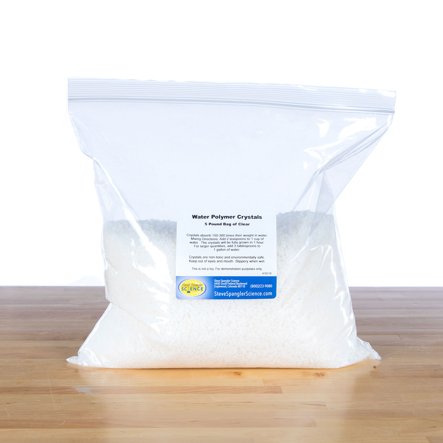 Water Jelly Crystals - 5 lb Clear