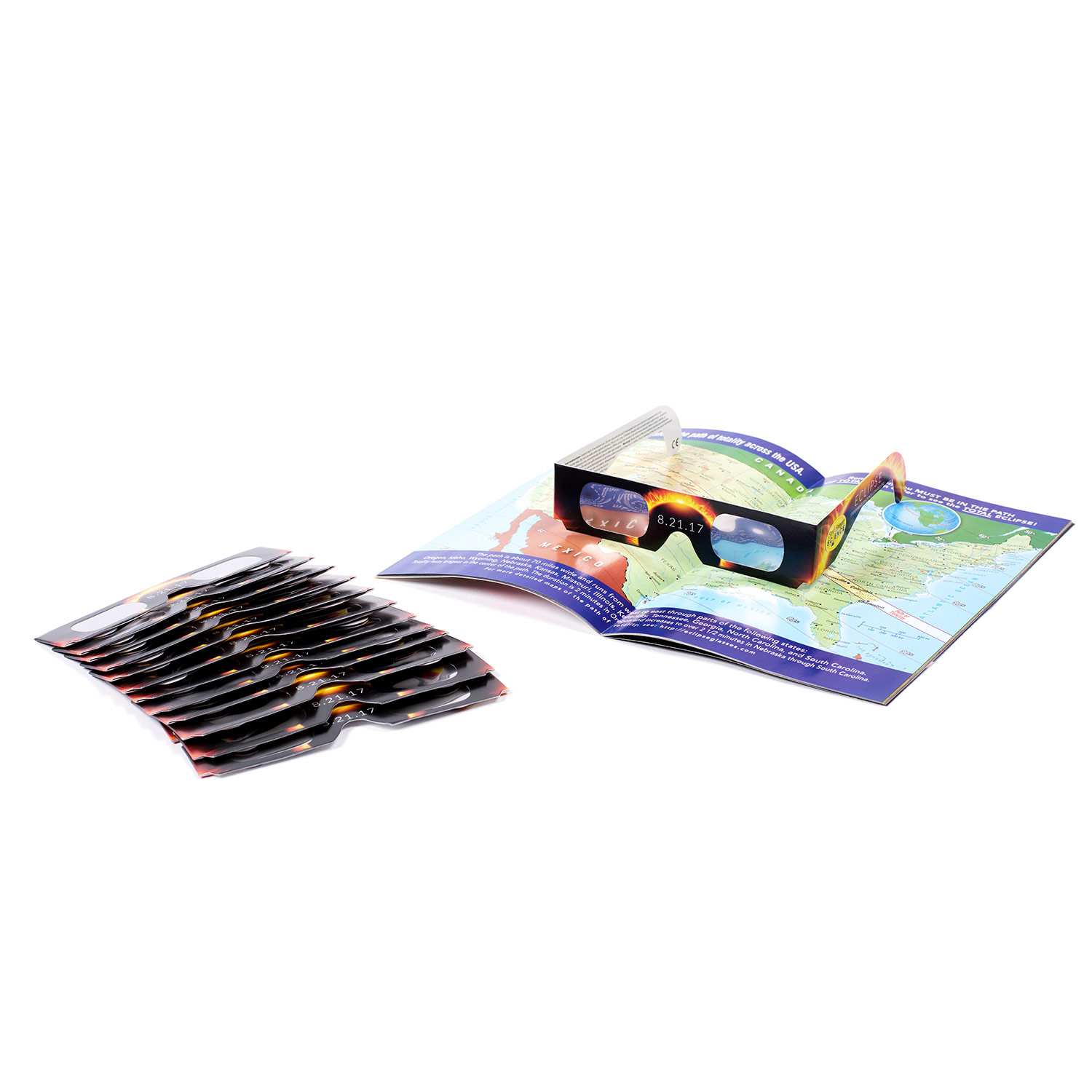 Solar Eclipse Glasses - 15 Pack & Eclipse Book
