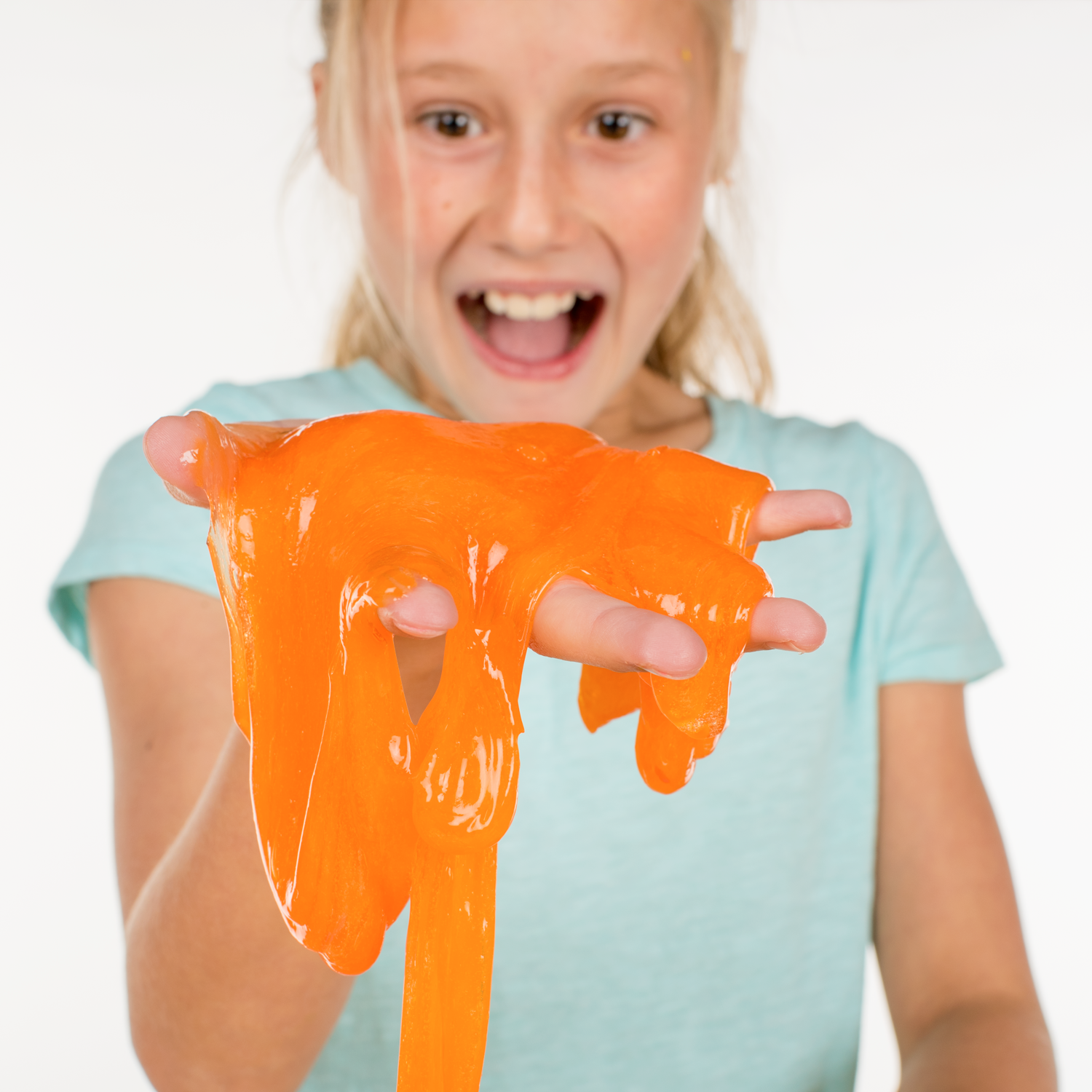Steve Spangler's Slime Art - Tangerine Orange - Handful of Slime