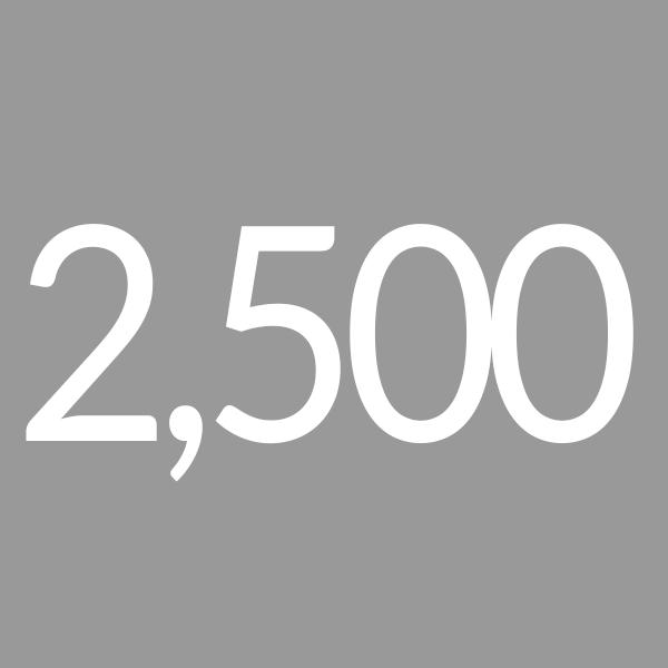 Quantity 2500