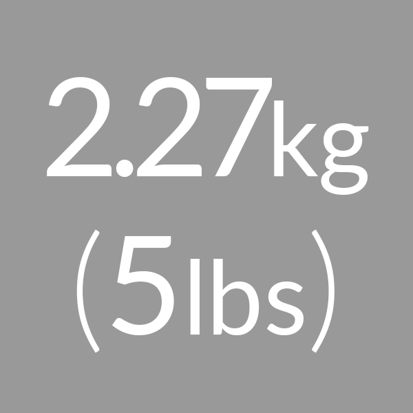 2.27kg (5lbs)