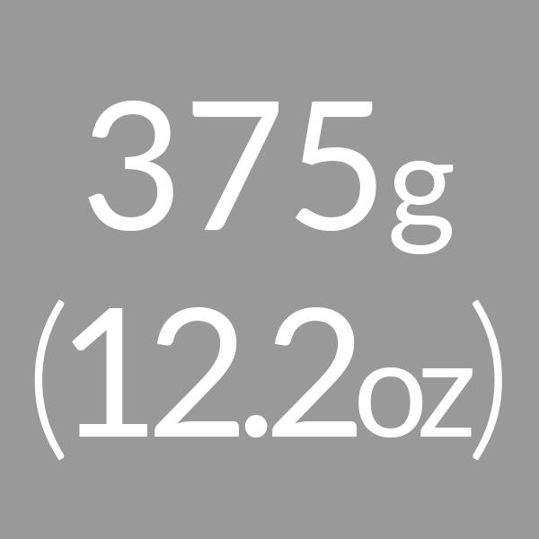 375g (12.2oz)