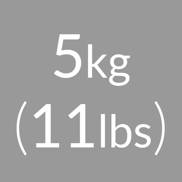 5kg (11lbs)
