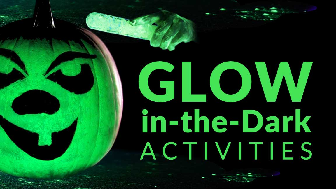 Halloween Glow-in-the-Dark Activities