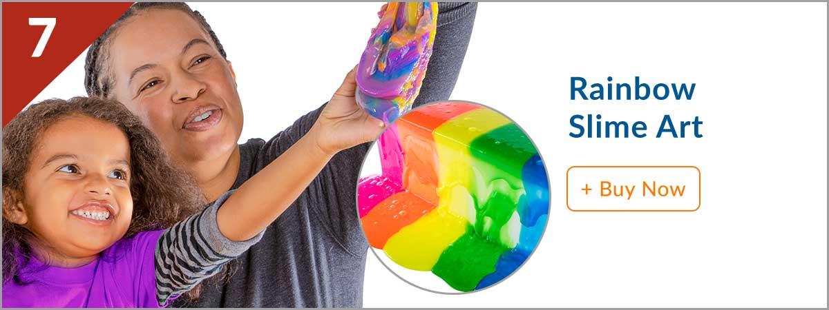 Steves Top 10 Product - (7) Rainbow Slime Art